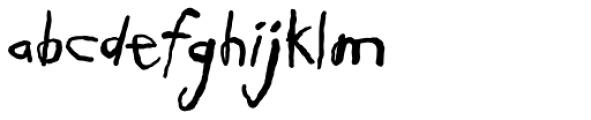 Schlub Font LOWERCASE