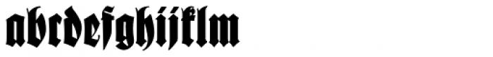 Schmale Anzeigenfraktur Font LOWERCASE