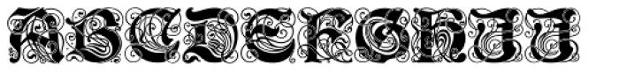 Schmuckinitialen Font UPPERCASE