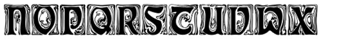Schmuckinitialen Font LOWERCASE