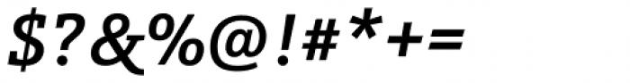 Schnebel Slab Pro Medium Italic Font OTHER CHARS