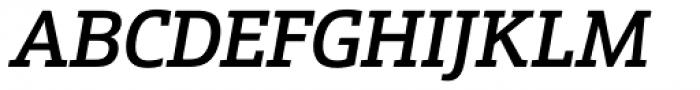 Schnebel Slab Pro Medium Italic Font UPPERCASE