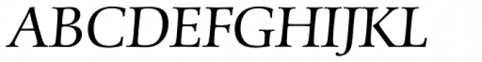 Schneider-Antiqua BQ Light Italic Font UPPERCASE