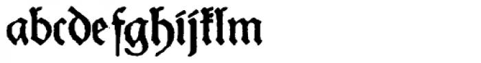 Schneider Buch Deutsch Expanded Font LOWERCASE
