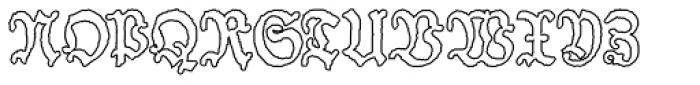 Schneider Buch Deutsch Outline Font UPPERCASE