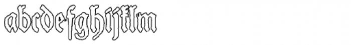 Schneider Buch Deutsch Outline Font LOWERCASE