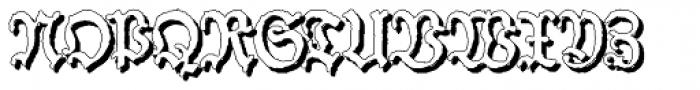 Schneider Buch Deutsch Shadow Font UPPERCASE