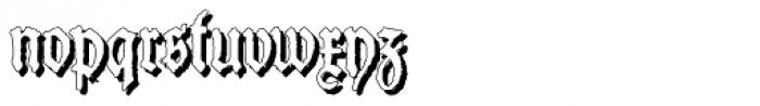 Schneider Buch Deutsch Shadow Font LOWERCASE