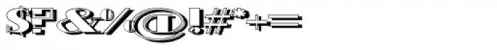 Schneider Kontrast1 Shadow Font OTHER CHARS