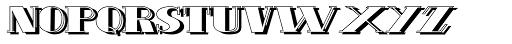 Schneider Kontrast1 Shadow Font UPPERCASE