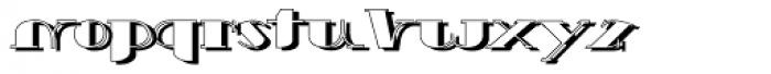 Schneider Kontrast1 Shadow Font LOWERCASE