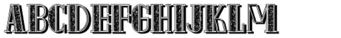 Schneider Kontrast4 Shadow Font LOWERCASE