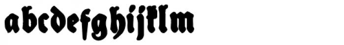 Schneidler Halb Fette Deutsch Bold Font LOWERCASE