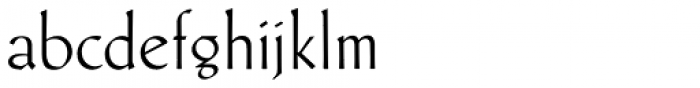 Schneidler Latein Thin Font LOWERCASE