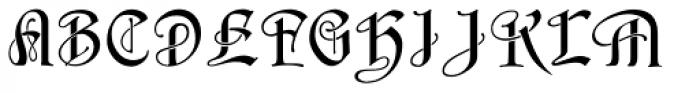 Schnorr Initialen Font UPPERCASE