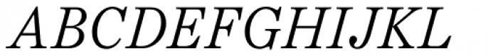 Schotis Text Light Italic Font UPPERCASE
