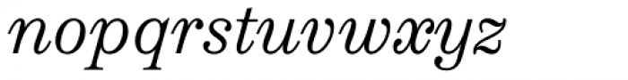 Schotis Text Light Italic Font LOWERCASE