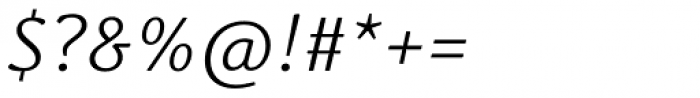 Schuss News Pro Light Italic Font OTHER CHARS