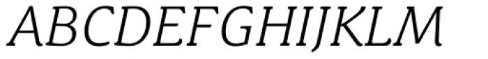 Schuss News Pro Light Italic Font UPPERCASE