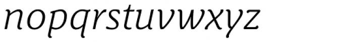 Schuss News Pro Light Italic Font LOWERCASE