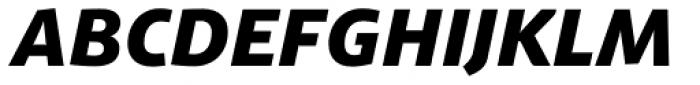 Schuss Sans PCG Heavy Italic Font UPPERCASE