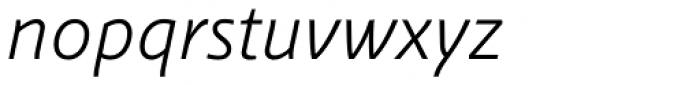 Schuss Sans PCG Light Italic Font LOWERCASE