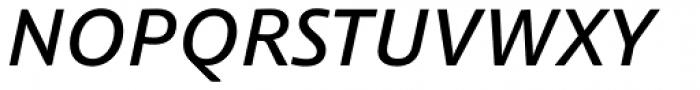 Schuss Sans PCG Medium Italic Font UPPERCASE