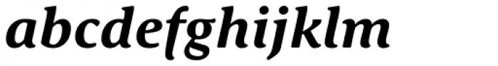 Schuss Serif Pro Bold Italic Font LOWERCASE