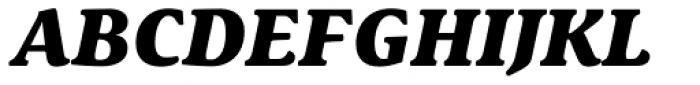 Schuss Serif Pro Heavy Italic Font UPPERCASE