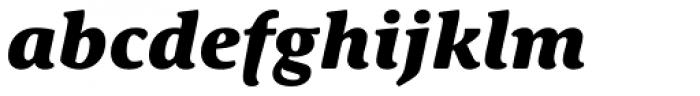 Schuss Serif Pro Heavy Italic Font LOWERCASE