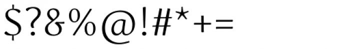 Schuss Serif Pro Light Font OTHER CHARS