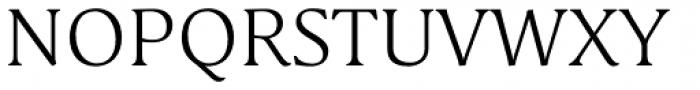 Schuss Serif Pro Light Font UPPERCASE