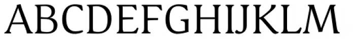 Schuss Serif Pro Regular Font UPPERCASE
