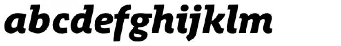 Schuss Slab Pro Heavy Italic Font LOWERCASE