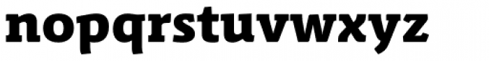 Schuss Slab Pro Heavy Font LOWERCASE