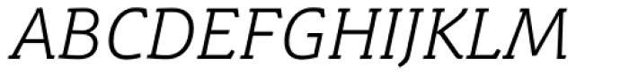 Schuss Slab Pro Light Italic Font UPPERCASE