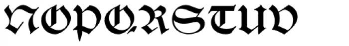 Schwabacher Book Font UPPERCASE