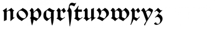 Schwabacher Book Font LOWERCASE