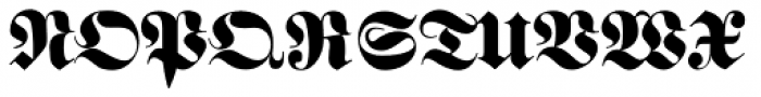 Schwere Fraktur Pro Font UPPERCASE