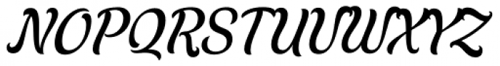 Schwung Alternate Font UPPERCASE