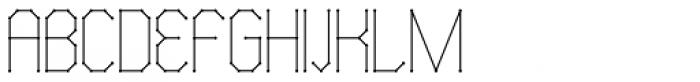 Science White Regular Font UPPERCASE