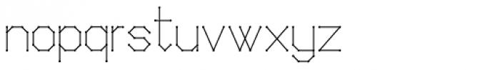 Science White Regular Font LOWERCASE