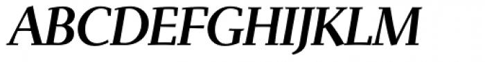 Scintilla Pro Medium Italic Font UPPERCASE