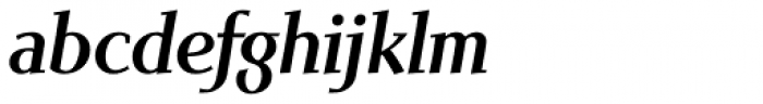 Scintilla Pro Medium Italic Font LOWERCASE