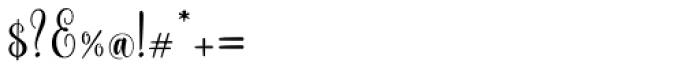 Scoothlane Script Regular Font OTHER CHARS