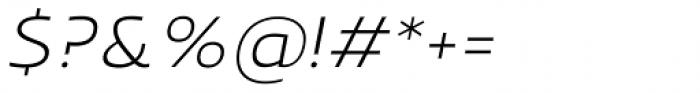 Scorno Extralight Italic Font OTHER CHARS