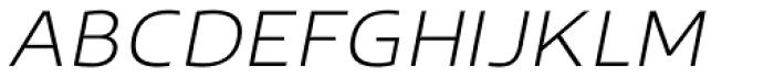 Scorno Extralight Italic Font UPPERCASE