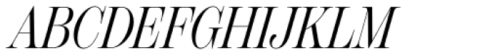 Scotch Display Compressed Italic Font UPPERCASE