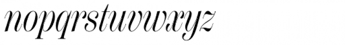 Scotch Display Compressed Italic Font LOWERCASE