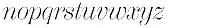 Scotch Display Light Italic Font LOWERCASE